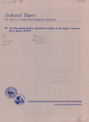 Technical Papers of the U S  Fish and Wildlife Service
