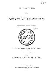 Proceedings and Committee Reports - New York State Bar Association: Volume 13
