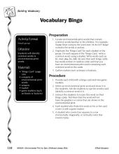 Environmental Print & Building Vocabulary: Vocabulary Bingo