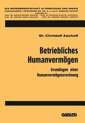Betriebliches Humanvermögen: Grundlagen einer Humanvermögensrechnung
