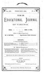 The Educational Journal of Virginia: Volume 12
