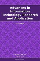 Advances in Information Technology Research and Application  2011 Edition PDF