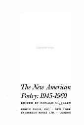 The New American Poetry  1945 1960 PDF