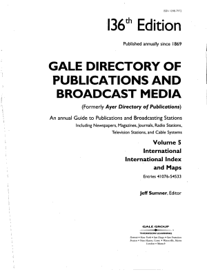 Ayer Directory of Publications PDF
