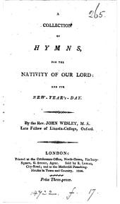 A collection of hymns for the nativity of our Lord: and for new-year's-day