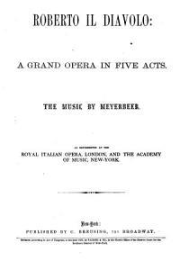 Opera Libretto  Vol  II IV  Book