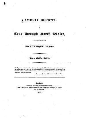 Cambria Depicta  a Tour Through North Wales PDF