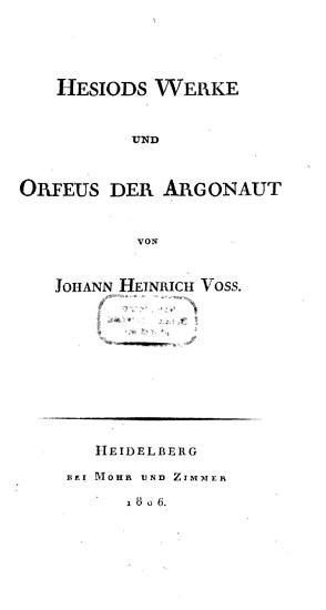 Hesiods Werke PDF
