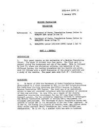 Machine Translation Evaluation 9 Jan 1976 Book PDF