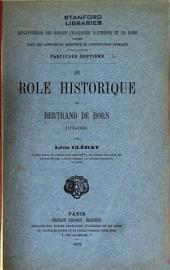 Du rôle historique de Bertrand de Born (1175-1200)