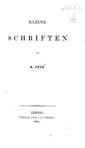 Kleine Schriften