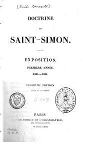 Doctrine de Saint-Simon: exposition, première année 1828-1829