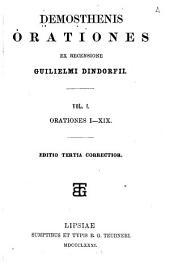 Demosthenis Orationes ex recensione Guilielmi Dindorfii ...