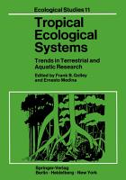Tropical Ecological Systems PDF