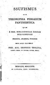 Ssufismus, sive Theosophia Persarum pantheistica