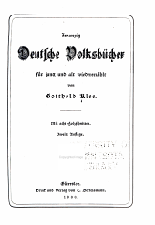 Zwanzig deutsche volksbücher für jung und alt wiedererzählt: Mit acht holzschnitten