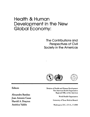 Health   Human Development in the New Global Economy PDF