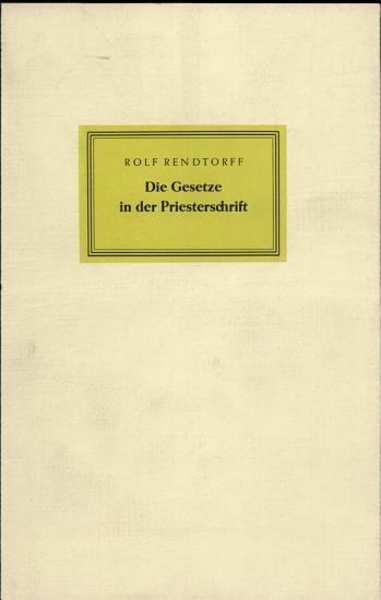 Die Gesetze in der Priesterschrift PDF