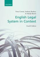 English Legal System in Context PDF