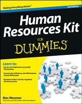 Human Resources Kit For Dummies: Edition 3