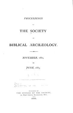 Proceedings of the Society of Biblical Archaeology PDF