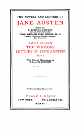 The Novels and Letters of Jane Austen: Volume 11