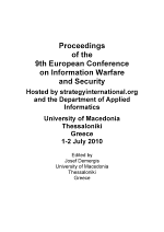 ECIW2010-Proceedings of the 9th European Conference on Information Warfare and Security