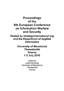 ECIW2010 Proceedings of the 9th European Conference on Information Warfare and Security PDF