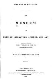 The Museum of Foreign Literature, Science, and Art: Volume 36