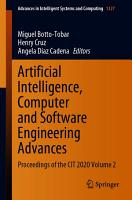 Artificial Intelligence  Computer and Software Engineering Advances PDF
