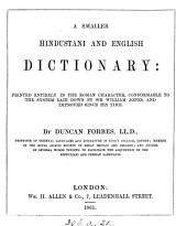 A smaller Hindustani and English dictionary
