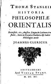 Historia philosophiae orientalis