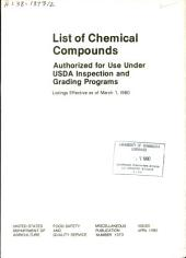 List of chemical compounds authorized for use under USDA inspection and grading programs: Volume 1980
