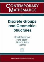 Discrete Groups and Geometric Structures PDF