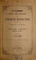 Dr  H G  Bronn s Klassen und Ordnungen des Thier Reichs  Bd  Fortgesetzt von Dr  G C J  Vosmaer   1  Abth   Spongien  Porifera  1887 PDF