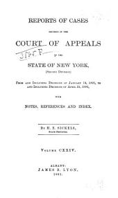 Reports of Cases Decided in the Court of Appeals of the State of New York: Volume 124