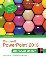 New Perspectives on Microsoft PowerPoint 2013  Comprehensive Enhanced Edition PDF