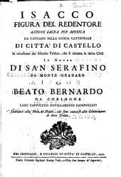 Isacco figura del Redentore: Azione sacra per musica