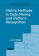 Matrix Methods in Data Mining and Pattern Recognition PDF