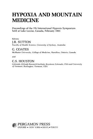 Hypoxia and Mountain Medicine PDF