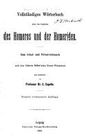 Vollst  ndiges w  rterbuch   ber die gedichte des Homeros und der Homeriden PDF