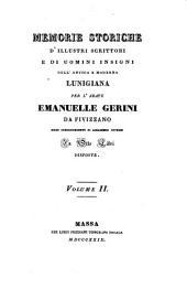 Memorie storiche d'illustri scrittori e di uomini insigni dell' antica e moderna Lunigiana: Τόμος 2