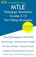 MTLE Pedagogy Secondary Grades 5 12   Test Taking Strategies
