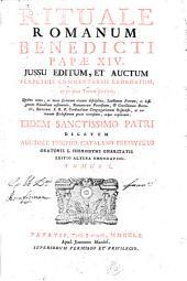 Rituale romanum: Benedicti papae XIV jussu editum et auctum perpetuis commentariis exornatum ac in duos tomos divisum