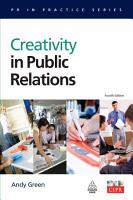 Creativity in Public Relations PDF