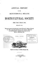 Annual Report of the Minnesota State Horticultural Society for the Year ...: Volume 17