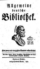 Allgemeine deutsche Bibliothek: Band 42