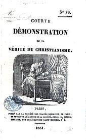 Courte démonstration de la verité du Christianisme