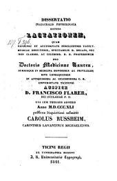 Dissertatio ... sistens lactationem. - Ticini Regii, Bizzoni 1841