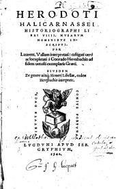 Herodoti Halicarnassei historiographi Libri VIII musarum nominibus inscripti